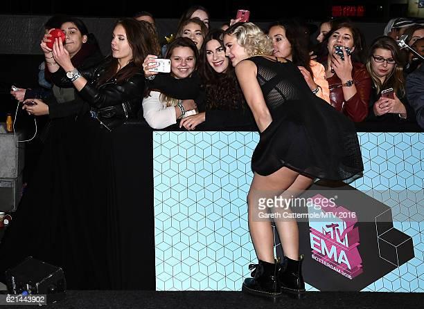 AnneMarie attends the MTV Europe Music Awards 2016 on November 6 2016 in Rotterdam Netherlands