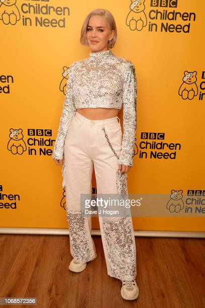 AnneMarie backstage at BBC Children In Need's 2018 appeal night at Elstree Studios on November 16 2018 in Borehamwood England