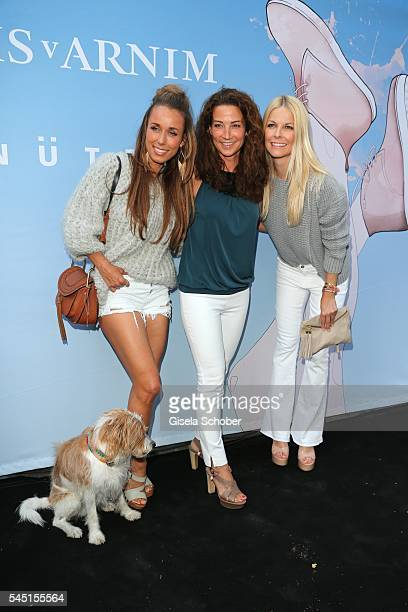 Annemarie Carpendale and her dog Seppi Silvia Incardona and Tina Kaiser during the Iris von Arnim by Unuetzer launch party of the cashmere sneaker at...