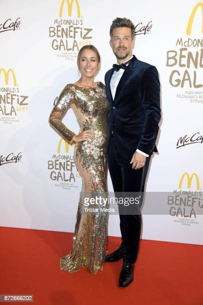 Annemarie Carpendale and her husband Wayne Carpendale attend the McDonald's charity gala at Hotel Bayerischer Hof on November 10 2017 in Munich...
