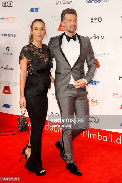 Annemarie Carpendale and her husband Wayne Carpendale attend the German Film Ball 2018 at Hotel Bayerischer Hof on January 20 2018 in Munich Germany