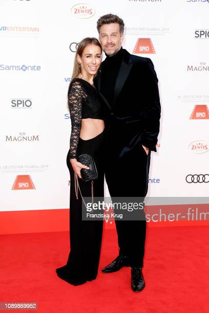 Annemarie Carpendale and her husband Wayne Carpendale during the 46th German Film Ball at Hotel Bayerischer Hof on January 26 2019 in Munich Germany