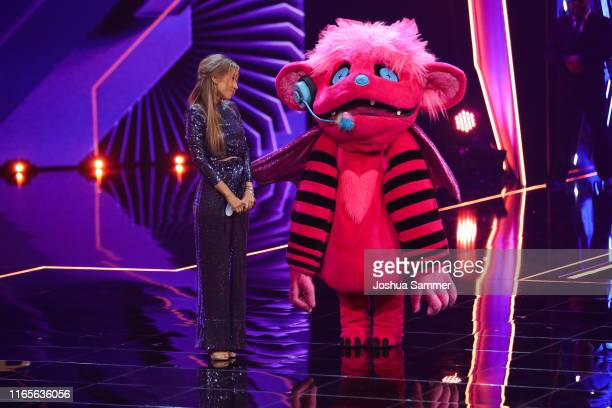 Annemarie Carpendale and Susi Kentikian at the The Masked Singer finals at Coloneum on August 01 2019 in Cologne Germany