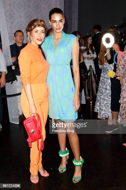 Annemarie Carpendale and Talia Graf during the Marc Cain Fashion Show Spring/Summer 2019 at WECC on July 3 2018 in Berlin Germany