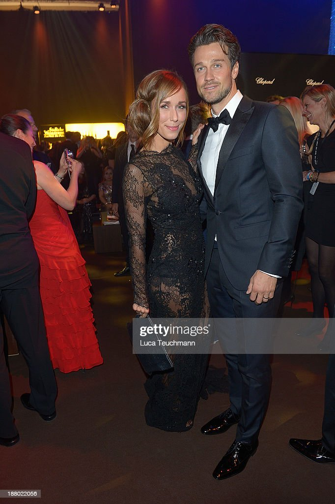 Annemarie Carpendale and Wayne Carpendale attend the Bambi Awards 2013 After Show Party at Stage Theater on November 14, 2013 in Berlin, Germany.