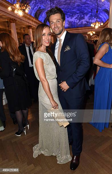 Annemarie Carpendale and Wayne Carpendale attend the 'Bayerischer Fernsehpreis 2014' at Prinzregententheater on May 23 2014 in Munich Germany