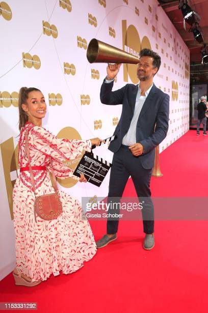 Annemarie Carpendale and Wayne Carpendale during the Bavaria Film Reception One Hundred Years in Motion on the occasion of the 100th anniversary of...