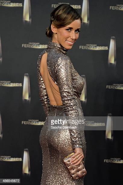 Annemarie Carpendale arrives at the 'Deutscher Fernsehpreis 2014' at Coloneum on October 2 2014 in Cologne Germany