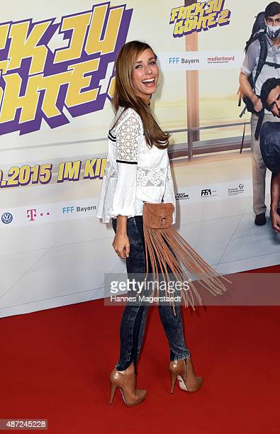Annemarie Carpendale attends the 'Fack ju Goehte 2' Munich Premiere at Mathaeser Filmpalast on September 7 2015 in Munich Germany