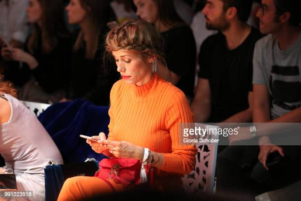 Annemarie Carpendale during the Marc Cain Fashion Show Spring/Summer 2019 at WEEC Westhafen on July 3 2018 in Berlin Germany