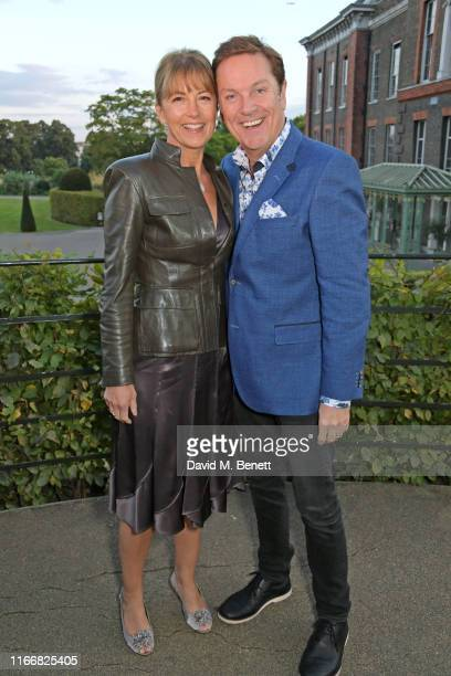 Anne-Marie Conley and Brian Conley attend the ATG Summer Party at Kensington Palace Gardens in celebration of Sir Ian McKellen on September 8, 2019...