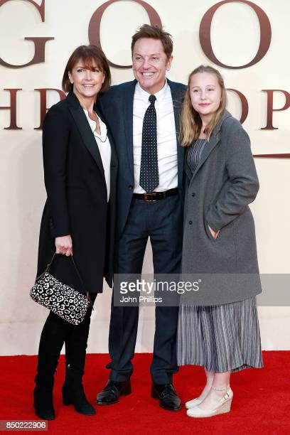 AnneMarie Conley Brian Conley and daughter attend the 'Goodbye Christopher Robin' World Premiere held at Odeon Leicester Square on September 20 2017...