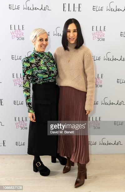 AnneMarie Curtis and Eva Chen attend day one of ELLE Weekender at The Saatchi Gallery on November 30 2018 in London England