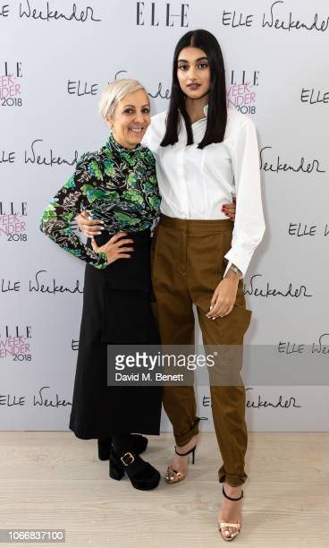 AnneMarie Curtis and Neelam Gill attend day one of ELLE Weekender at The Saatchi Gallery on November 30 2018 in London England