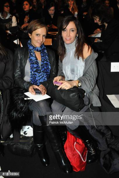 AnneMarie Curtis and Nina Kamali attend PHILLIP LIM Fall 2010 Collection at Bryant Park Tents on February 17 2010 in New York City