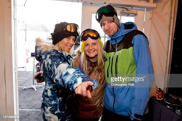 AnneMarie Dacyshyn Amanda Wormann and Ian Warda at the Burton Lounge at Park City on January 20 2012 in Park City Utah