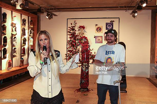 AnneMarie Dacyshyn and Pro Snowboarder Danny Davis attend the Burton x Grateful Dead Collab Launch Party on October 4 2012 in Los Angeles California