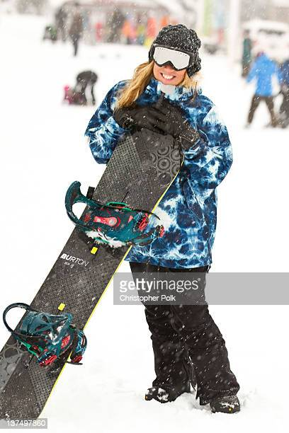 AnneMarie Dacyshyn at the Burton Lounge at Park City Mountain Resort on January 21 2012 in Park City Utah