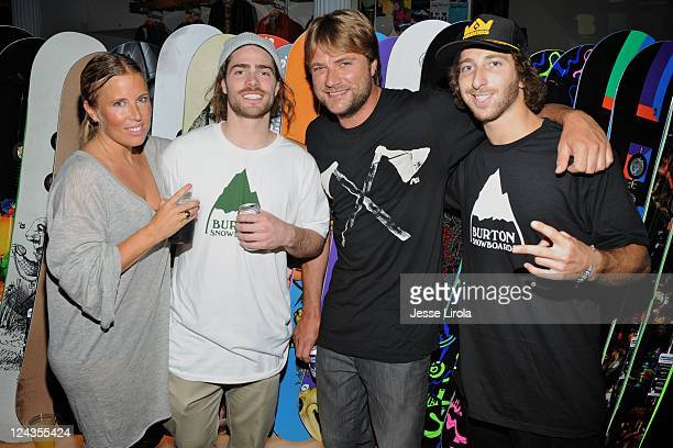 AnneMarie Dacyshyn PR Director Danny Davis Benji Weatherly and Jack Micrani attend Burton Snowboards Fashion's Night Out celebration on September 8...