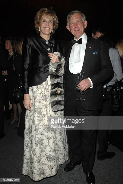 AnneMarie de Ganay and Le Vicomte de Rohan attend FRENCHAMERICAN FOUNDATION GALA DINNER at The Four Seasons Restaurant on November 7 2007 in New York...