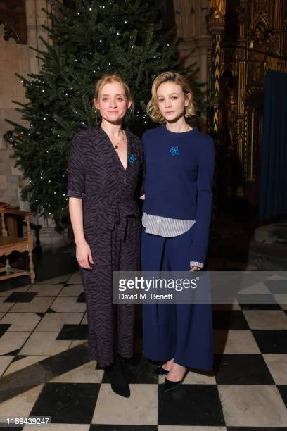 AnneMarie Duff and Carey Mulligan attend the Alzheimer's Society's Carols At Christmas hosted by Carey Mulligan at Southwark Cathedral on December 18...
