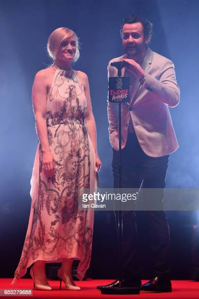 AnneMarie Duff and Daniel Mays present the award for Best TV Series during the THREE Empire awards at The Roundhouse on March 19 2017 in London...