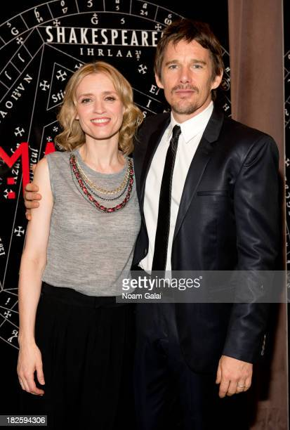 AnneMarie Duff and Ethan Hawke attend the Shakespeare's MacBeth Press Preview at Lincoln Center for the Performing Arts on October 1 2013 in New York...
