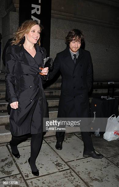 AnneMarie Duff and James McAvoy attend London Evening Standard British Film Awards 2010 held at The Movieum County Hall on February 8 2010 in London...