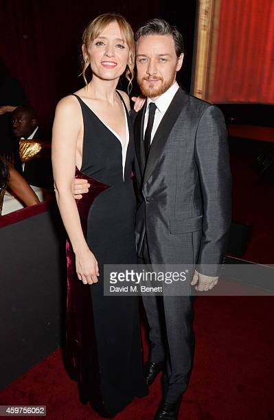 AnneMarie Duff and James McAvoy attend the 60th London Evening Standard Theatre Awards at the London Palladium on November 30 2014 in London England