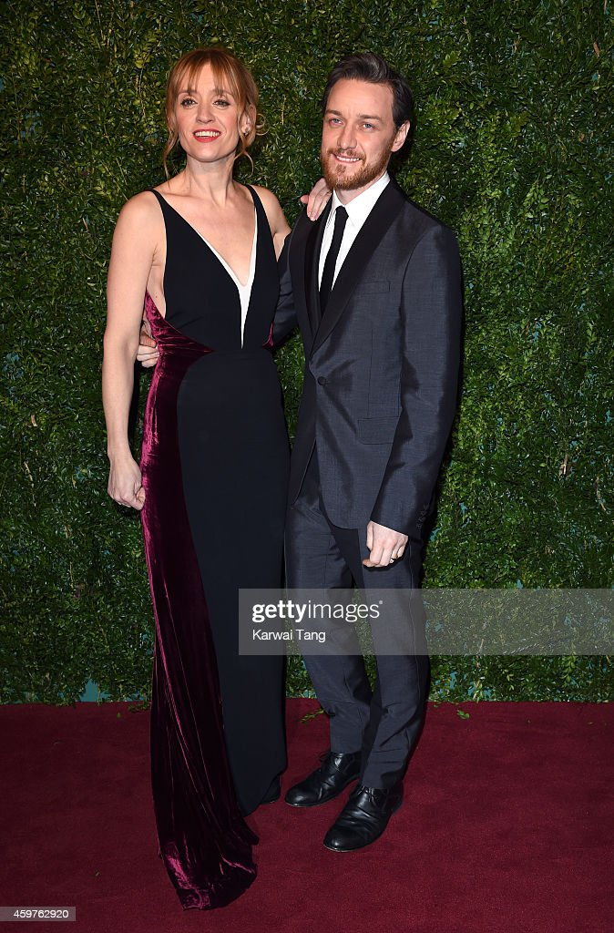 Anne-Marie Duff and James McAvoy attend the 60th London Evening Standard Theatre Awards at London Palladium on November 30, 2014 in London, England.