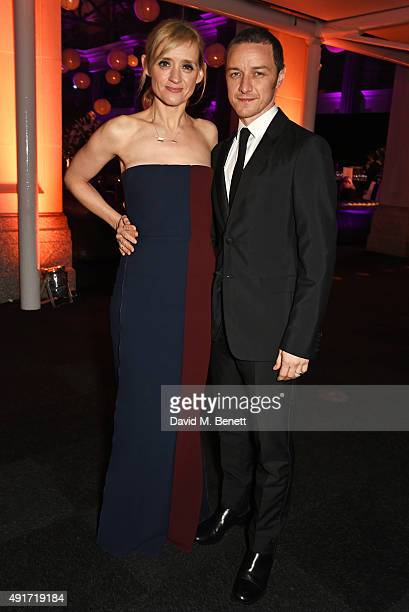 AnneMarie Duff and James McAvoy attend the after party for 'Suffragette' on the opening night of the BFI London Film Festival at Old Billingsgate...