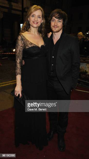 AnneMarie Duff and James McAvoy attend the UK film premiere of 'The Last Station' at The Curzon Cinema Mayfair on January 26 2010 in London England