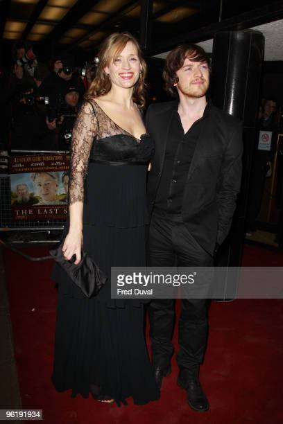 AnneMarie Duff and James McAvoy attends the UK Prmeiere of 'The Last Station' at The Curzon Mayfair on January 26 2010 in London England