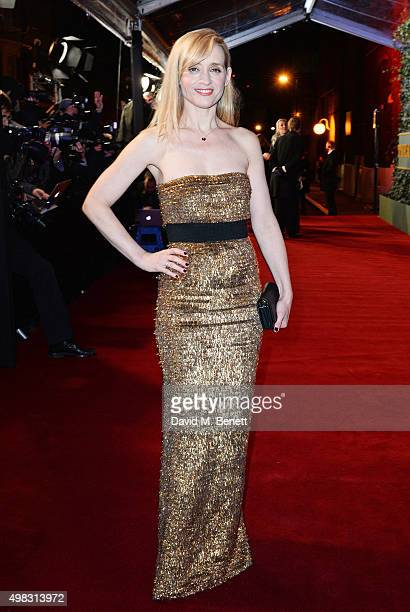AnneMarie Duff arrives at The London Evening Standard Theatre Awards in partnership with The Ivy at The Old Vic Theatre on November 22 2015 in London...