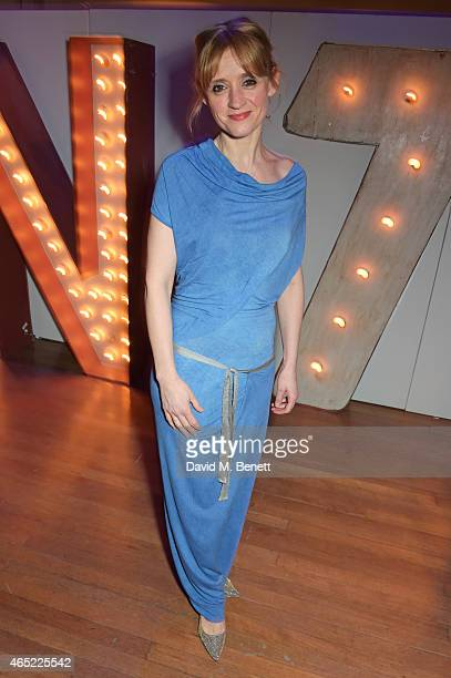 AnneMarie Duff attends Fast Forward The National Theatre's fundraising gala at The National Theatre on March 4 2015 in London England
