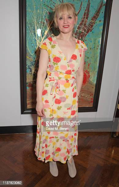 """Anne-Marie Duff attends the press night after party for """"Sweet Charity"""" at The h Club on April 17, 2019 in London, England."""