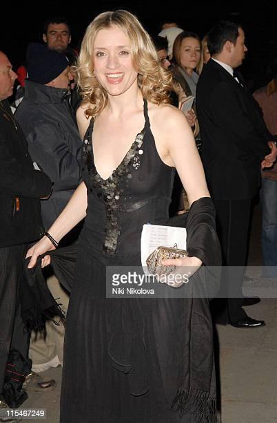 AnneMarie Duff during 2007 Laurence Olivier Awards Inside Arrivals at Grosvenor House Hotel in London Great Britain