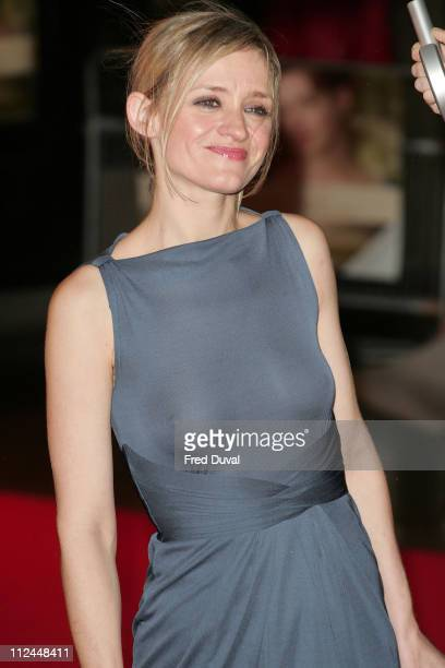 AnneMarie Duff during 'Becoming Jane' London Premiere Arrivals at Odeon West End in London Great Britain