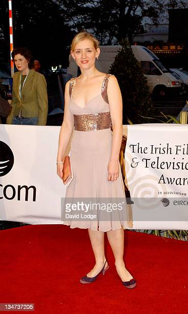 AnneMarie Duff during The Irish Film and Television Awards 2004 Arrivals at The Burlington Hotel in Dublin Ireland