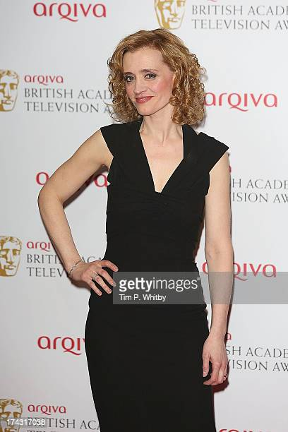 AnneMarie Duff poses in the press room at the Arqiva British Academy Television Awards 2013 at the Royal Festival Hall on May 12 2013 in London...