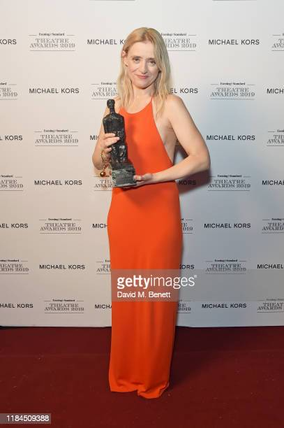 AnneMarie Duff poses in the winners room at the 65th Evening Standard Theatre Awards In Association With Michael Kors at London Coliseum on November...