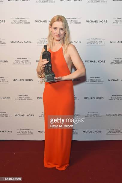 AnneMarie Duff winner of Best Musical Performance for 'Sweet Charity' poses in the winners room at the 65th Evening Standard Theatre Awards In...