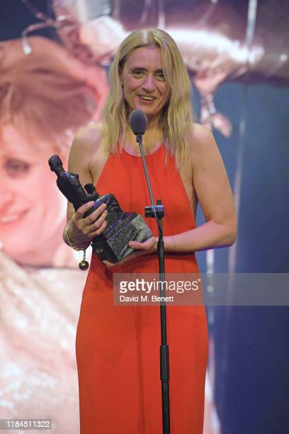 AnneMarie Duff winner of Best Musical Performance for 'Sweet Charity' attends the 65th Evening Standard Theatre Awards in association with Michael...