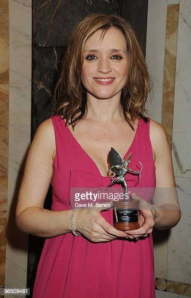 AnneMarie Duff with her Best Actress Award attends the London Evening Standard British Film Awards 2010 at The London Film Museum on February 8 2010...