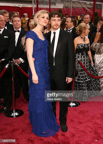 AnneMarie Duffy and actor James McAvoy attend the 80th Annual Academy Awards at the Kodak Theatre on February 24 2008 in Los Angeles California