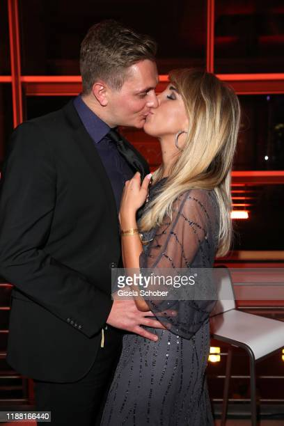 Annemarie Eilfeld and her fiance Tim Sand during the 25th annual Jose Carreras Gala after party on December 12 2019 at Messe Leipzig in Leipzig...