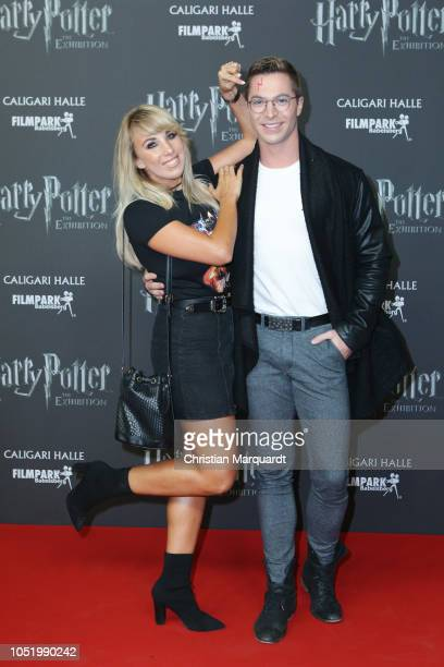 Annemarie Eilfeld and Julian David attend the 'Harry Potter The Exhibition' VIP opening at Filmpark Babelsberg on October 12 2018 in Potsdam Germany