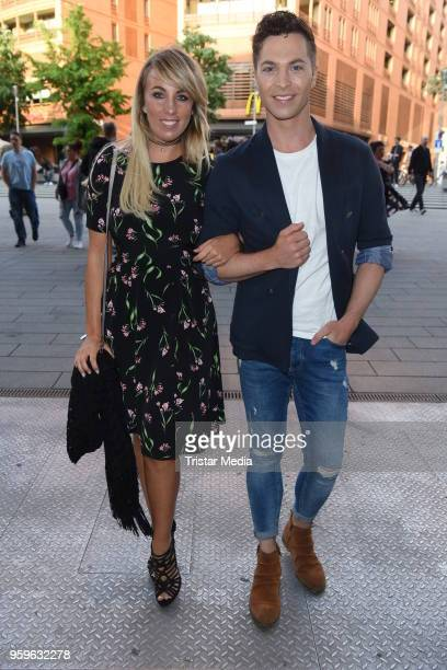 Annemarie Eilfeld and Julian David during the premiere of 'Flying Illusion' on at Theater am Potsdamer Platz on May 17 2018 in Berlin Germany