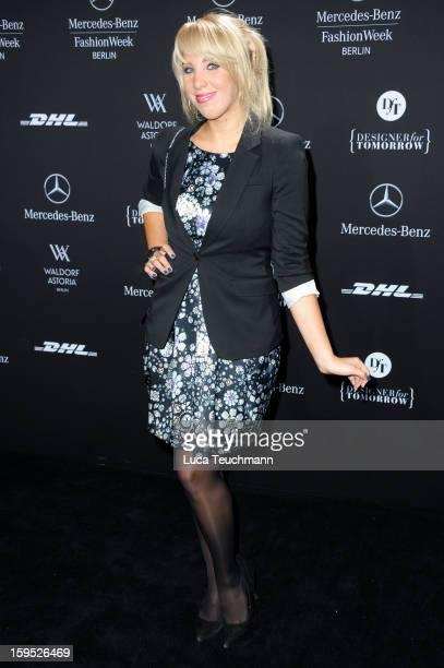 Annemarie Eilfeld attends Rebekka Ruetz Autumn/Winter 2013/14 fashion show during MercedesBenz Fashion Week Berlin at Brandenburg Gate on January 15...