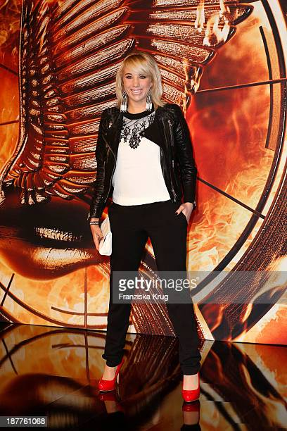 Annemarie Eilfeld attends the German premiere of the film 'The Hunger Games Catching Fire' at Sony Centre on November 12 2013 in Berlin Germany